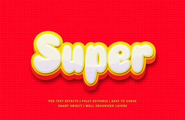 Супер 3d текстовый эффект