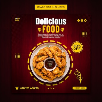 Super delicious food instagram stories and web banner template