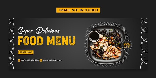 Super delicious food social media and instagram post template