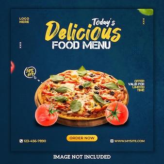 Super delicious food social media post template
