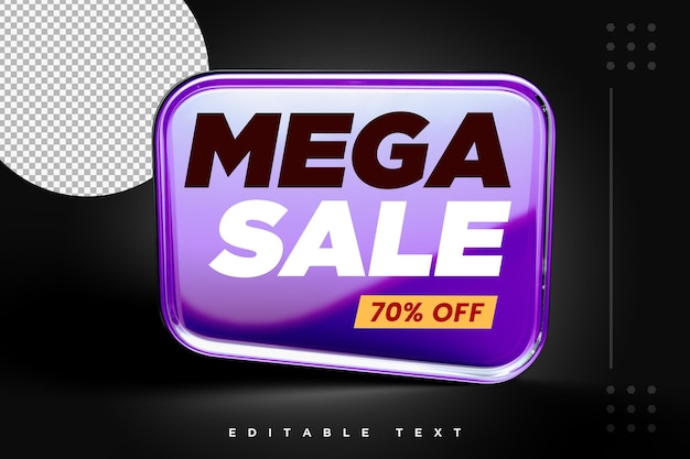 Super discount sale 3d banner rendering isolate