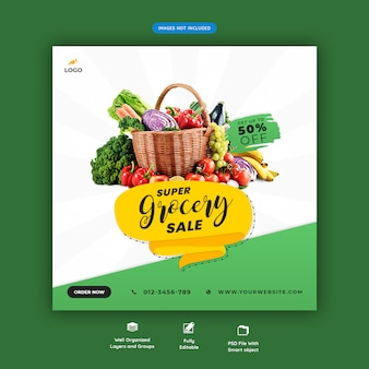 Super grocery sale banner