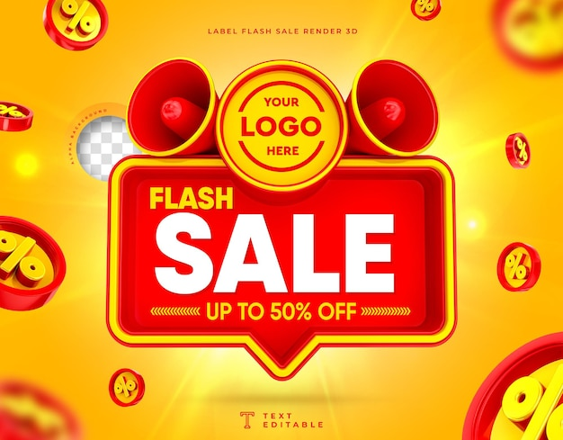 Super sale 3d megaphone box flash sale up to 50 off