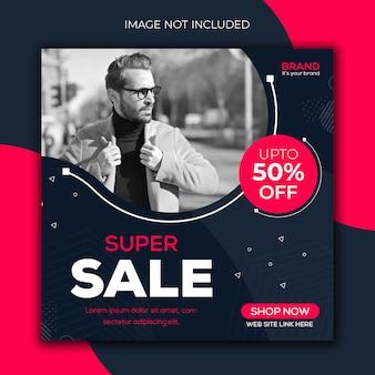 Super sale instagram post template