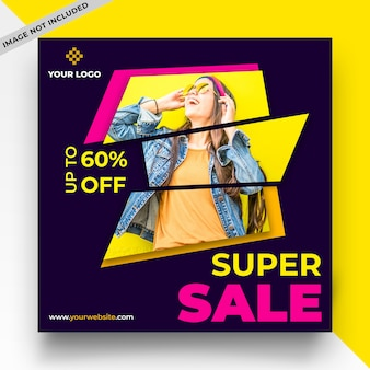 Super sale social media post template