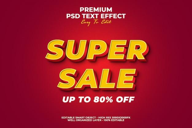 Super sale text effect