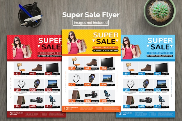 Super sales flyer