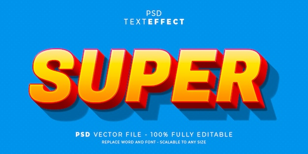 Super text and font effect style editable template