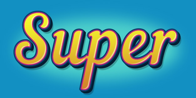 Super  text style effect