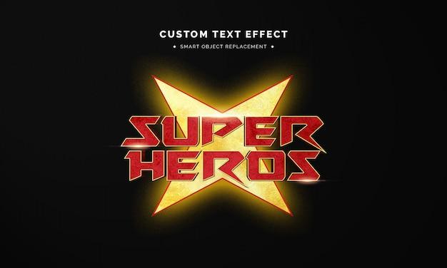 Superhero 3d text style effect