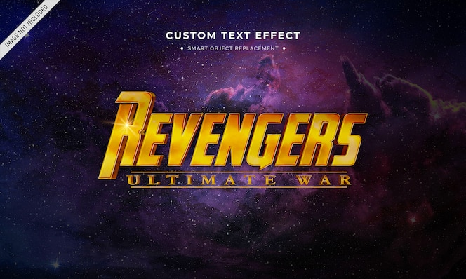 Superhero movie 3d text style effect