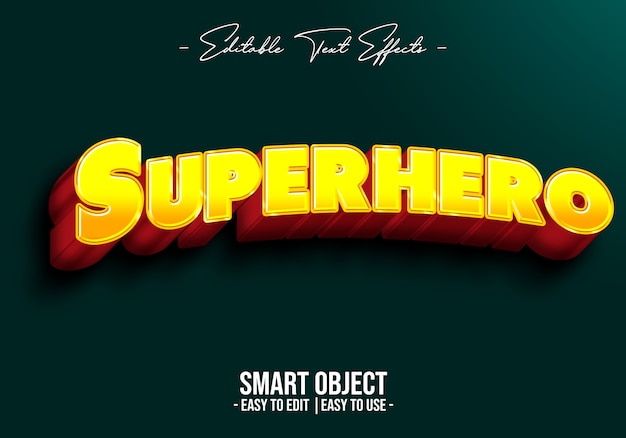 Superhero text style effect