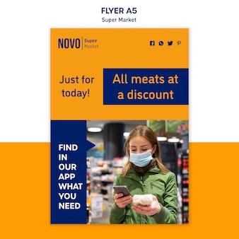Supermarket concept flyer template