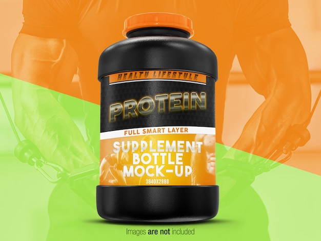 Supplement bottle mock-up front vew
