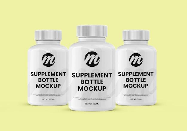 Supplement or medicine bottle and mockup