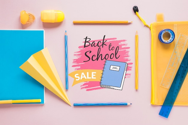 Supplies sale for back to school event