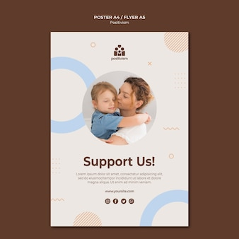 Support us poster template