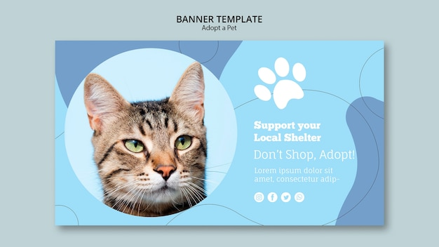 Support your local shelter banner template