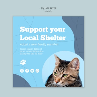 Support your local shelter template