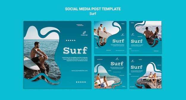 Surf and adventure social media post