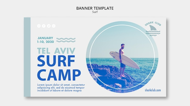 Surf banner template concept