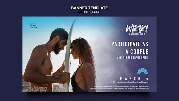 Surf classes template banner