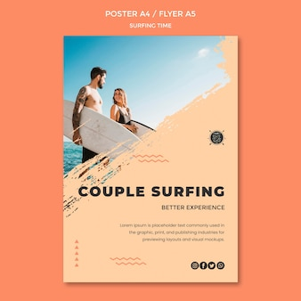 Surf concept flyer template