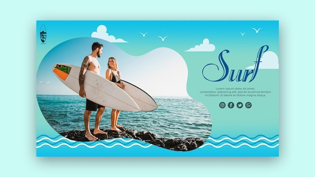 Surf concept landing page template