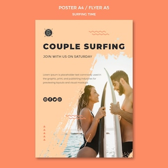 Surf concept poster template