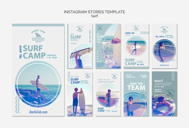 Surf instagram stories template