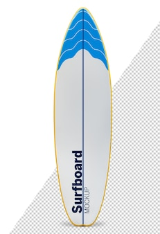 Surfboard mock up isolated
