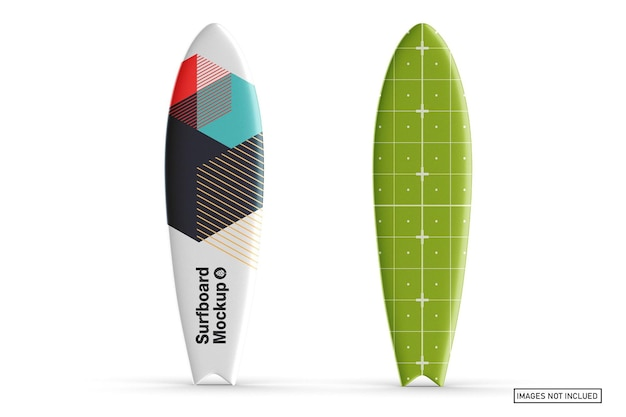 Surfboard mockup design in 3d rendering