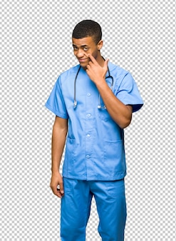 Surgeon doctor man looking to the front