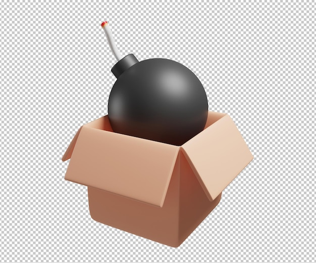 Сюрприз бомба коробка 3d иллюстрация