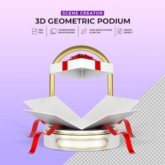 Сюрприз сделка подарочная коробка раздача 3d реалистичный подиум промо-дисплей продукта