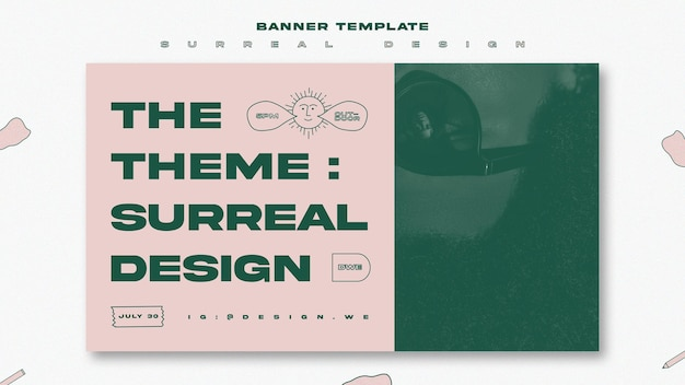 Surreal design event banner template Free Psd