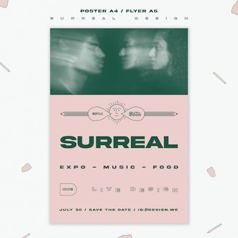 Surreal design event flyer template