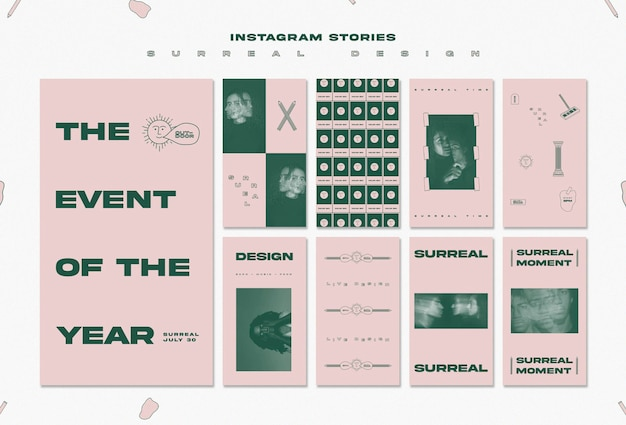 Surreal design event instagram stories template