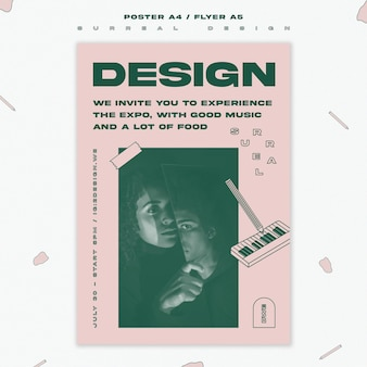 Surreal design event poster template