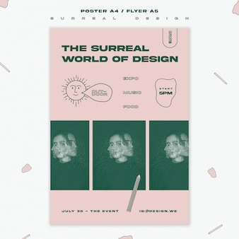 Surreal design flyer template