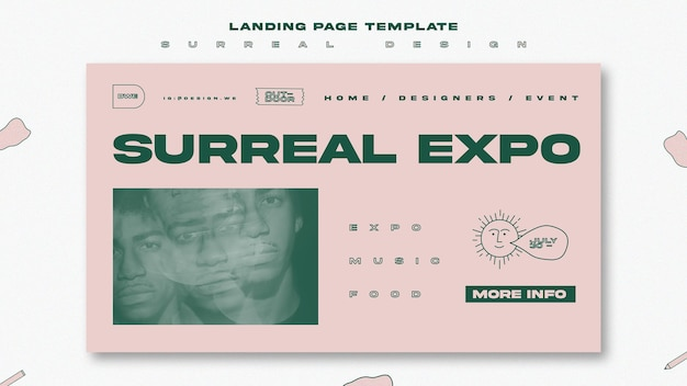 Surreal design landing page template