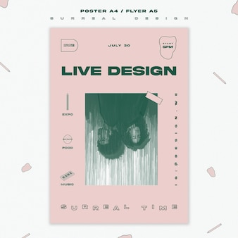 Surreal design template poster