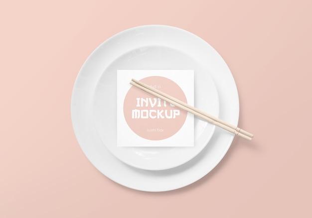 Суши-бар пригласить мокап
