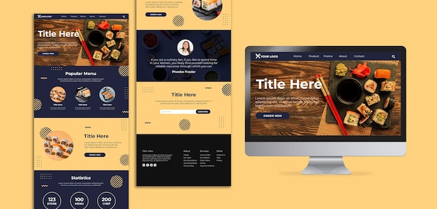 Sushi concept website template