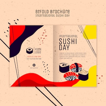 Sushi day bifold brochure