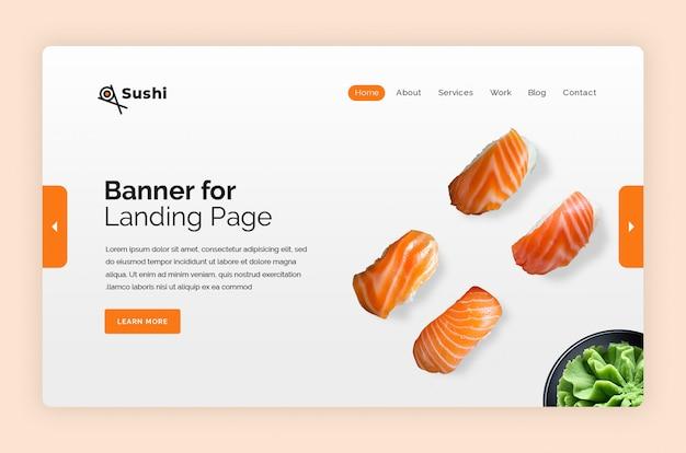 Шаблон баннера суши герой