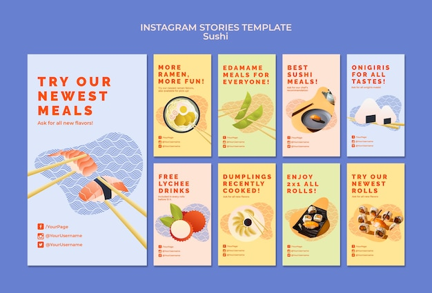 Sushi instagram stories
