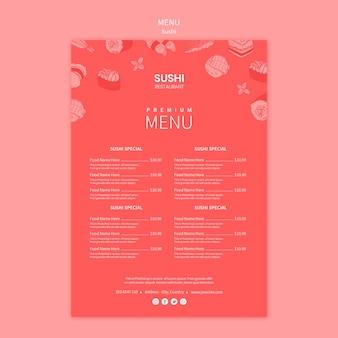 Концепция шаблона суши-меню