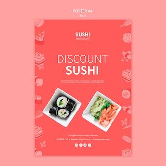 Шаблон постера суши