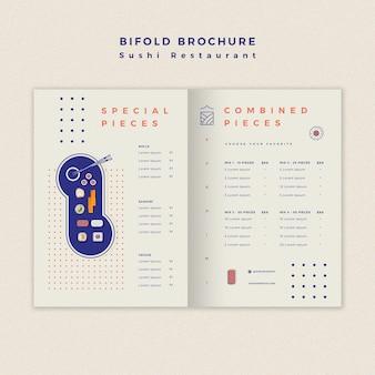 Sushi restaurant brochure template